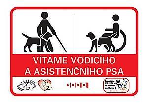 Asistenční a vodící psi vítáni