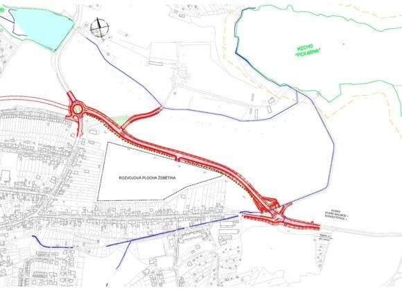 Plánovaný obchvat Žebětína bude doplněn o cyklostezky